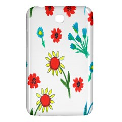 Flowers Fabric Design Samsung Galaxy Tab 3 (7 ) P3200 Hardshell Case  by BangZart