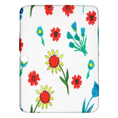 Flowers Fabric Design Samsung Galaxy Tab 3 (10 1 ) P5200 Hardshell Case