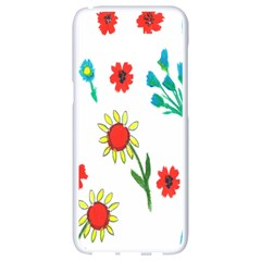 Flowers Fabric Design Samsung Galaxy S8 White Seamless Case by BangZart