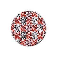 Simple Japanese Patterns Rubber Coaster (round)  by BangZart