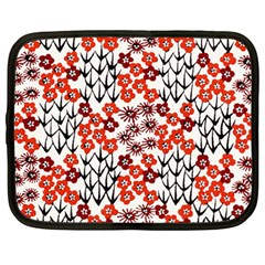 Simple Japanese Patterns Netbook Case (large) by BangZart