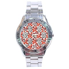 Simple Japanese Patterns Stainless Steel Analogue Watch by BangZart