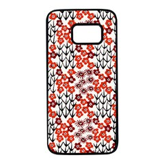 Simple Japanese Patterns Samsung Galaxy S7 Black Seamless Case