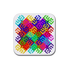 3d Fsm Tessellation Pattern Rubber Coaster (square)  by BangZart