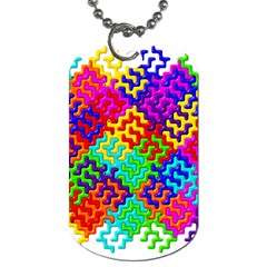 3d Fsm Tessellation Pattern Dog Tag (two Sides) by BangZart