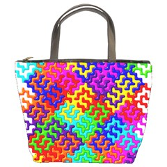 3d Fsm Tessellation Pattern Bucket Bags by BangZart
