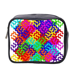 3d Fsm Tessellation Pattern Mini Toiletries Bag 2 Side