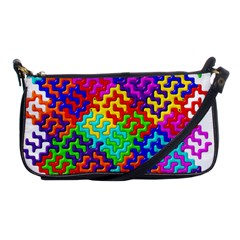 3d Fsm Tessellation Pattern Shoulder Clutch Bags by BangZart