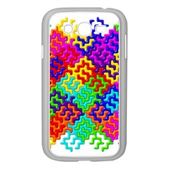 3d Fsm Tessellation Pattern Samsung Galaxy Grand Duos I9082 Case (white) by BangZart