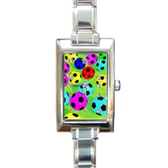 Balls Colors Rectangle Italian Charm Watch by BangZart