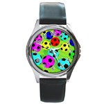 Balls Colors Round Metal Watch Front