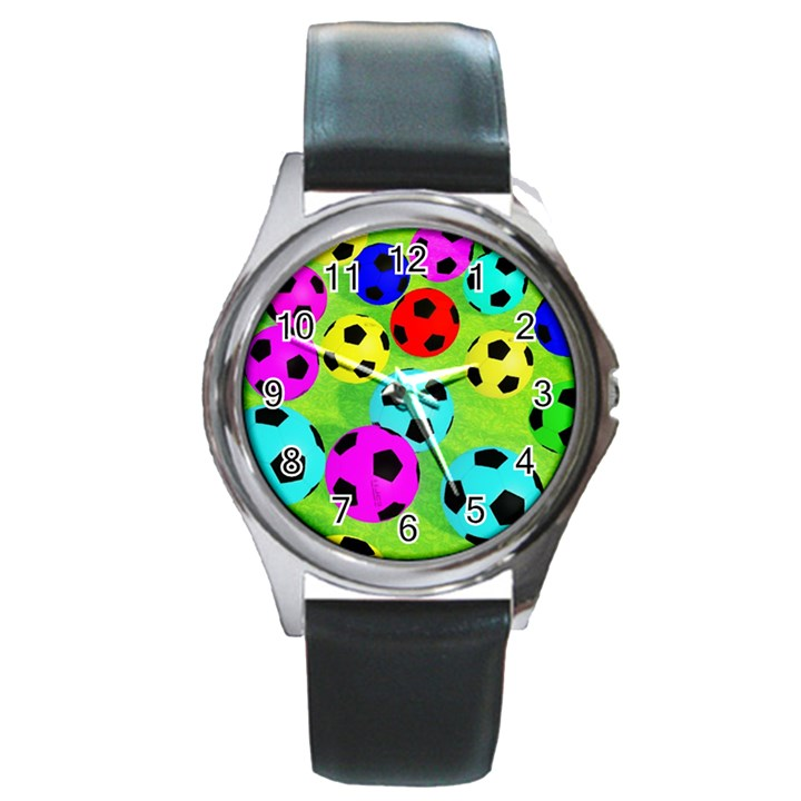 Balls Colors Round Metal Watch