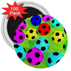 Balls Colors 3  Magnets (100 Pack) by BangZart