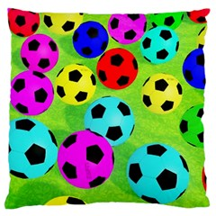 Balls Colors Large Flano Cushion Case (one Side)