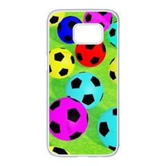 Balls Colors Samsung Galaxy S7 Edge White Seamless Case by BangZart