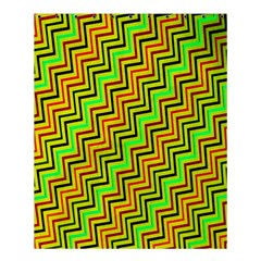 Green Red Brown Zig Zag Background Shower Curtain 60  X 72  (medium)  by BangZart
