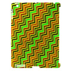 Green Red Brown Zig Zag Background Apple Ipad 3/4 Hardshell Case (compatible With Smart Cover) by BangZart