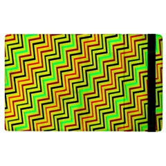 Green Red Brown Zig Zag Background Apple Ipad 3/4 Flip Case by BangZart