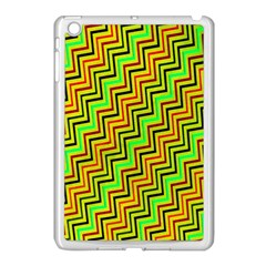 Green Red Brown Zig Zag Background Apple Ipad Mini Case (white) by BangZart