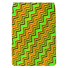 Green Red Brown Zig Zag Background Flap Covers (l)  by BangZart