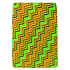Green Red Brown Zig Zag Background Flap Covers (s)  by BangZart
