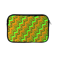 Green Red Brown Zig Zag Background Apple Ipad Mini Zipper Cases by BangZart