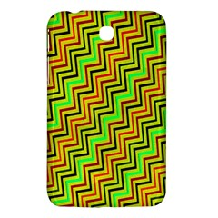 Green Red Brown Zig Zag Background Samsung Galaxy Tab 3 (7 ) P3200 Hardshell Case  by BangZart