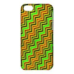Green Red Brown Zig Zag Background Apple Iphone 5c Hardshell Case by BangZart