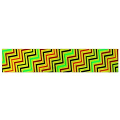 Green Red Brown Zig Zag Background Flano Scarf (small) by BangZart