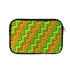 Green Red Brown Zig Zag Background Apple Macbook Pro 13  Zipper Case by BangZart