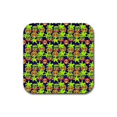 Smiley Monster Rubber Coaster (square)  by BangZart