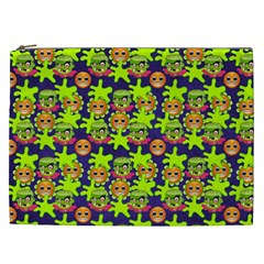 Smiley Monster Cosmetic Bag (xxl)  by BangZart