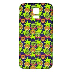 Smiley Monster Samsung Galaxy S5 Back Case (white) by BangZart
