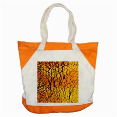 Yellow Chevron Zigzag Pattern Accent Tote Bag by BangZart
