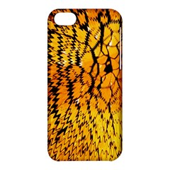 Yellow Chevron Zigzag Pattern Apple Iphone 5c Hardshell Case by BangZart