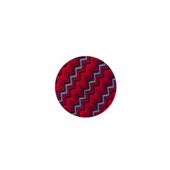 Red Turquoise Black Zig Zag Background 1  Mini Buttons by BangZart