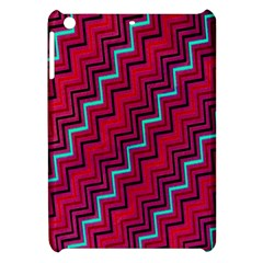 Red Turquoise Black Zig Zag Background Apple Ipad Mini Hardshell Case by BangZart