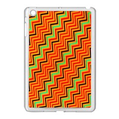 Orange Turquoise Red Zig Zag Background Apple Ipad Mini Case (white) by BangZart