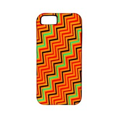 Orange Turquoise Red Zig Zag Background Apple Iphone 5 Classic Hardshell Case (pc+silicone) by BangZart