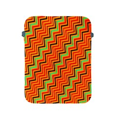 Orange Turquoise Red Zig Zag Background Apple Ipad 2/3/4 Protective Soft Cases by BangZart