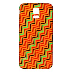 Orange Turquoise Red Zig Zag Background Samsung Galaxy S5 Back Case (white) by BangZart