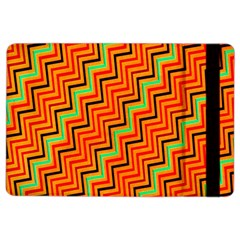 Orange Turquoise Red Zig Zag Background Ipad Air 2 Flip by BangZart