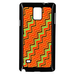 Orange Turquoise Red Zig Zag Background Samsung Galaxy Note 4 Case (black) by BangZart