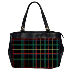 Tartan Plaid Pattern Office Handbags (2 Sides)  by BangZart