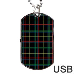 Tartan Plaid Pattern Dog Tag Usb Flash (one Side) by BangZart