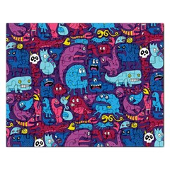 Hipster Pattern Animals And Tokyo Rectangular Jigsaw Puzzl by BangZart