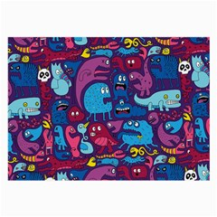 Hipster Pattern Animals And Tokyo Large Glasses Cloth (2 Side)