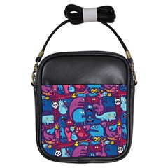Hipster Pattern Animals And Tokyo Girls Sling Bags by BangZart