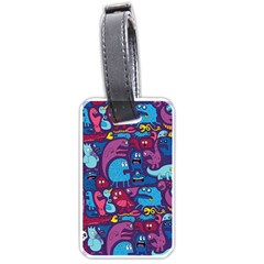 Hipster Pattern Animals And Tokyo Luggage Tags (one Side)  by BangZart