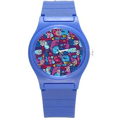 Hipster Pattern Animals And Tokyo Round Plastic Sport Watch (s) by BangZart